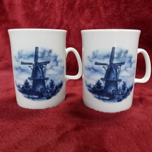 Other - DELFT Blue Dutch Mugs - Pair